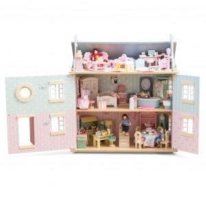 Le Toy Van Bay Tree Dollhouse with 6 Furniture sets and Family