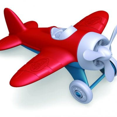 Green Toys Airplane with Red Wings