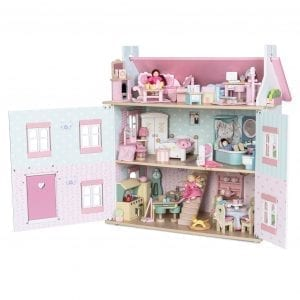 Le Toy Van Sophie Dollhouse with 6 Furniture Sets and Family