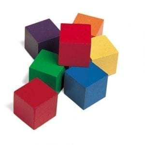 Wooden 1 inch cubes
