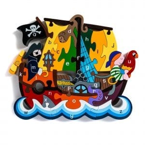Alphabet Pirate Ship Wooden Jigsaw