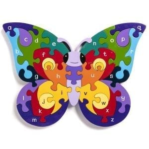 Wooden Alphabet Butterfly Jigsaw