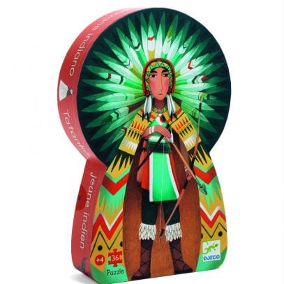 Djeco-Tatanka-young-indian-puzzle-boxed-set