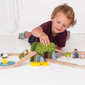 Farm Wooden Train Set