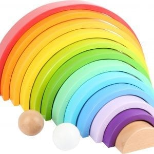 Rainbow Wooden Puzzle XL