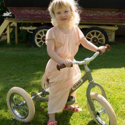 Trybike-vintage-green-balance-trike-for-toddlers