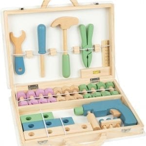 Wooden Toolbox with Accessories