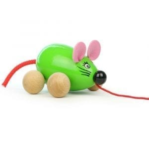 Pull along green Mouse