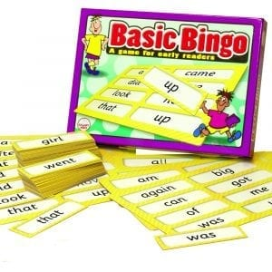 Basic Bingo Game for Early Readers