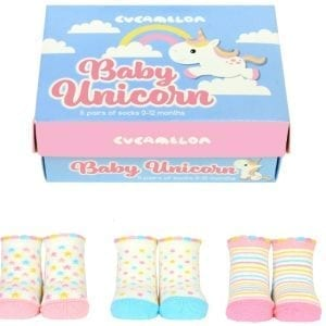 Baby Unicorn Socks 0 12 Months – Gift Box