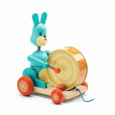 Pull along toy Bunny Boum