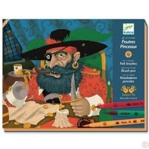 Djeco Draw Pirates Felt Tips Art