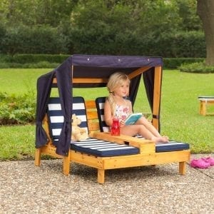 Kidkraft Double Chaise Lounge with Cupholders