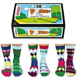 Fore – 6 Golf Oddsocks – Gift Box