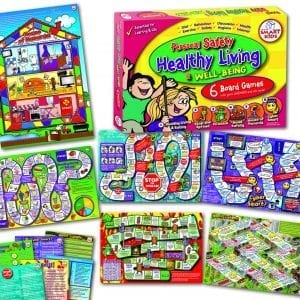 Board Game – Personal, Health, Well Being & Safety (Set of 6 games)