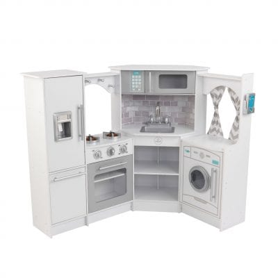 Kidkraft Ultimate Corner Kitchen White with Lights & Sounds