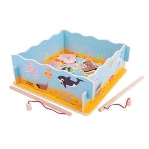 Wooden Fishing Game with Base