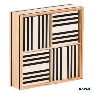 Kapla Construction 100 Planks Black and White