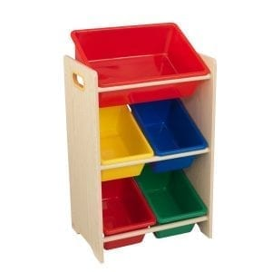 Kidkraft 5 Bin Storage Unit Natural
