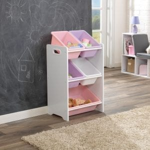 Kidkraft 5 Bin Storage Unit White