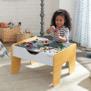 Kidkraft 2-in-1 Activity Table with Board – Grey & Natural