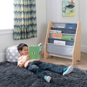 Kidkraft Sling Bookshelf Grey and Natural