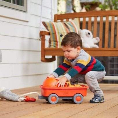 GreenToys-orange-Wagon-for-Toddlers-2