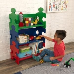 Kidkraft Puzzle Bookshelf – Primary colours