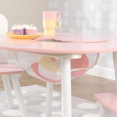 Kidkraft-Round-Storage-Table-and-two-Chairs-Pink-White-2