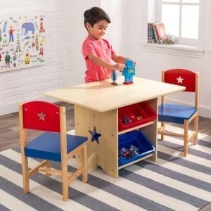 Kidkraft Star Table and Chair Set with Plastic Bins