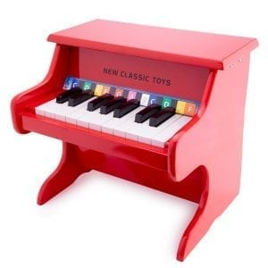 New Classic Toys Red Piano 18 keys