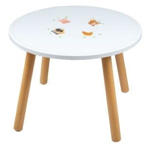 Wooden Farm Animal Table