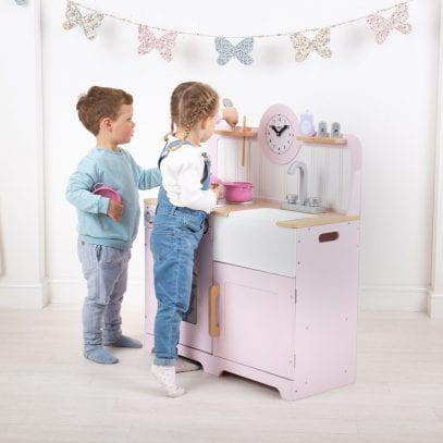 Country-Wooden-Play-Kitchen-Pink-Tidlo-1