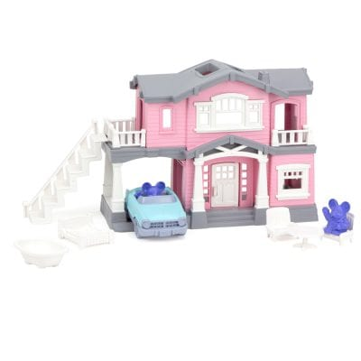 GreenToys House Playset Pink