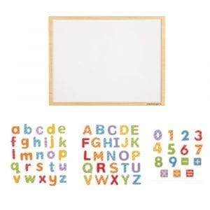 Large Magnetic Board with Letters and Numbers Set