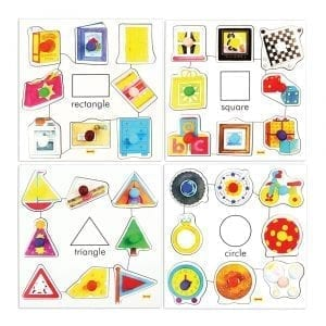 Shapes Set 1 Pegged Puzzles (Set of 4)