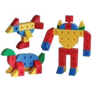 Snap Together Cubes & Triangles 320 pce