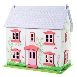 Rose Cottage Wooden Dollhouse