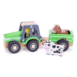 Tractor with Trailer and Animals