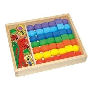Box of Jumbo Beads with Laces