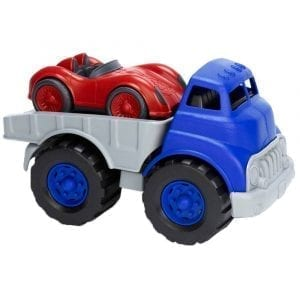 GreenToys Flatbed Truck with Race Car