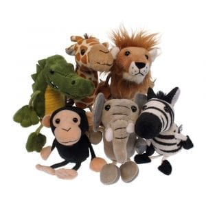 Finger Puppets African Animals Set of 6