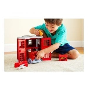 GreenToys Fire Station Playset