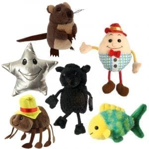 Finger Puppets Nursery Rhymes Set of 6
