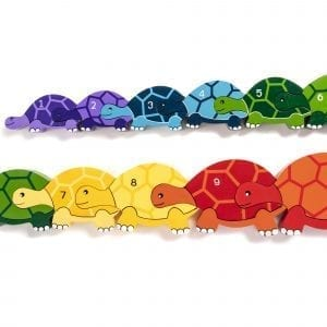 Number Tortoise Row Wooden Jigsaw