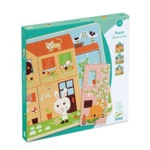 Djeco Chez Carrot 3 layers Puzzle