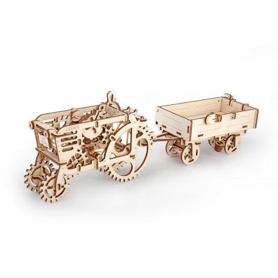UGears Model Tractor and Trailer Mechanical 3D Puzzle