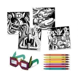 Djeco 3D Colouring Funny Freaks