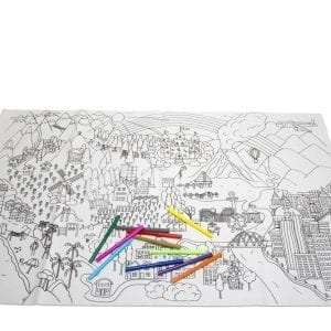 Giant Washable Colouring Mat and Pens