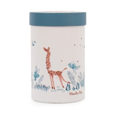 Moulin Roty Soft Toy bibiscus the Giraffe Baby First Toy in beautiful presentation box
